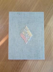 裁縫箱のふたの刺繍