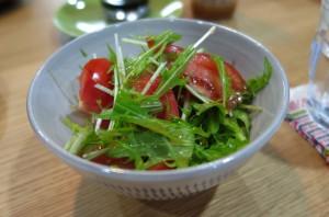 水菜とトマト