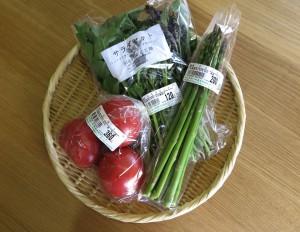 トマト、アスパラ、サラダセット