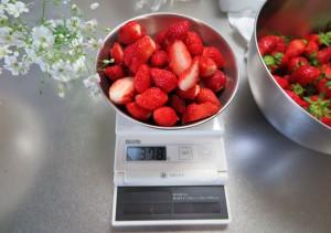 イチゴの計量