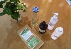 緑茶オイル材料