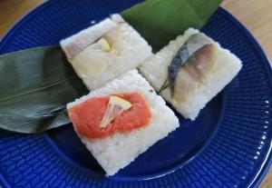 笹寿司を出したところ